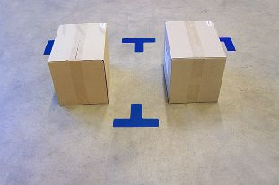Horizontal adhesive signs  - Man Lean typology - A172