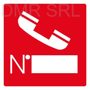 HORIZONTAL ADHESIVE SIGNS  - Instruction signs - A209