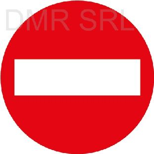 HORIZONTAL ADHESIVE SIGNS  - Round adhesive prohibition signs - A213