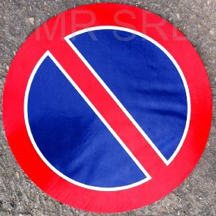 HORIZONTAL ADHESIVE SIGNS  - Round adhesive prohibition signs - A243