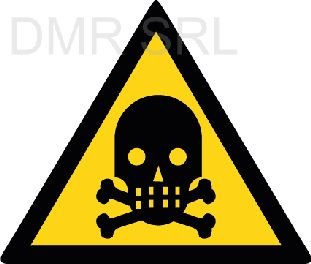 HORIZONTAL ADHESIVE SIGNS  - Danger triangular adhesive signs - A326