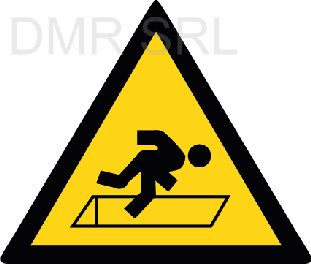 HORIZONTAL ADHESIVE SIGNS  - Danger triangular adhesive signs - A339