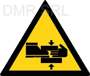 HORIZONTAL ADHESIVE SIGNS  - Danger triangular adhesive signs - A341