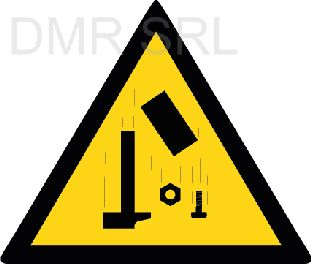 HORIZONTAL ADHESIVE SIGNS  - Danger triangular adhesive signs - A345