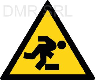 HORIZONTAL ADHESIVE SIGNS  - Danger triangular adhesive signs - A348