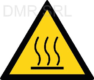 HORIZONTAL ADHESIVE SIGNS  - Danger triangular adhesive signs - A349