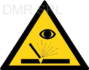HORIZONTAL ADHESIVE SIGNS  - Danger triangular adhesive signs - A350