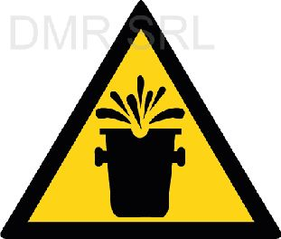 HORIZONTAL ADHESIVE SIGNS  - Danger triangular adhesive signs - A353