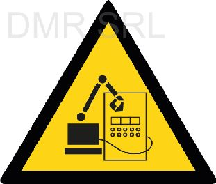 HORIZONTAL ADHESIVE SIGNS  - Danger triangular adhesive signs - A354