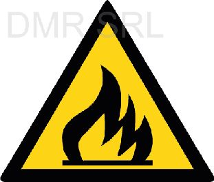 HORIZONTAL ADHESIVE SIGNS  - Danger triangular adhesive signs - A357