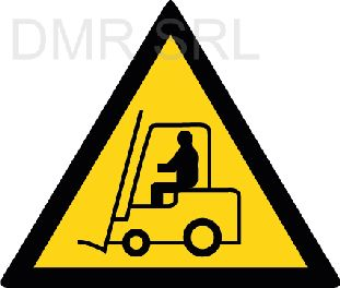 HORIZONTAL ADHESIVE SIGNS  - Danger triangular adhesive signs - A361