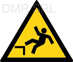 HORIZONTAL ADHESIVE SIGNS  - Danger triangular adhesive signs - A363